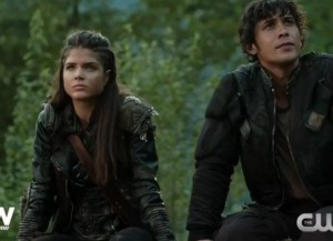 the 100 3x03 Octavia et Bellamy